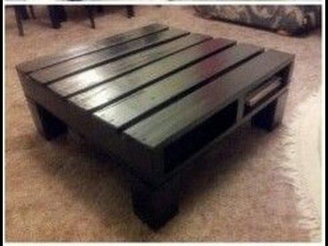 couchtisch aus europaletten selber bauen tisch aus paletten bauen youtube. Black Bedroom Furniture Sets. Home Design Ideas