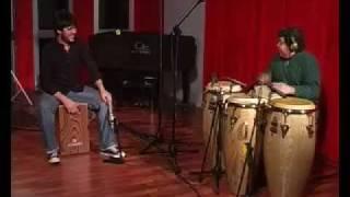 Paquito González + Giovanni Hidalgo: cajón y tumbadoras