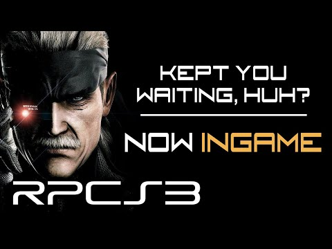 RPCS3 - Metal Gear Solid 4 Ingame for the first time!