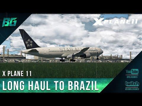 X-Plane 11   Long Haul to Brazil