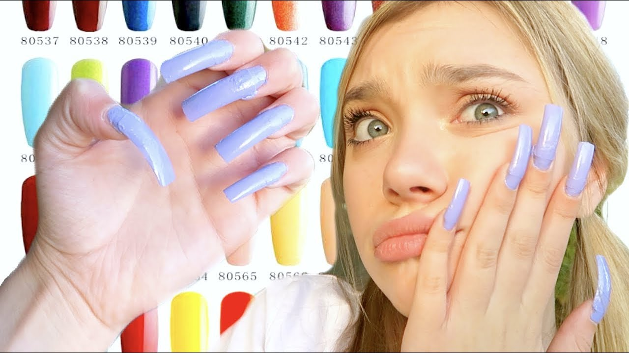 I Wore REALLY LONG Acrylic Nails For A Week... (First Time ... - photo#30