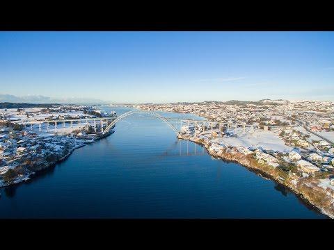 Haugalandet fra luften -  Januar 2016 - HD