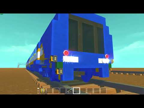 Scrap Mechanic - Fully Functioning Metro Train with Sliding Doors and Platform Screen Doors.
