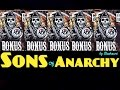 ** 5 BONUS SYMBOL** SONS OF ANARCHY slot machine Max bet HUGE WIN!