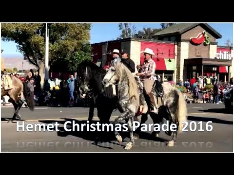 Christmas Parade  - Hemet, California  -  December 3, 2016