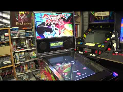 The Arcade Project - Arcade1Up Attack From Mars Virtual Pinball - Unboxing, Assembly & Gameplay from electricadventures