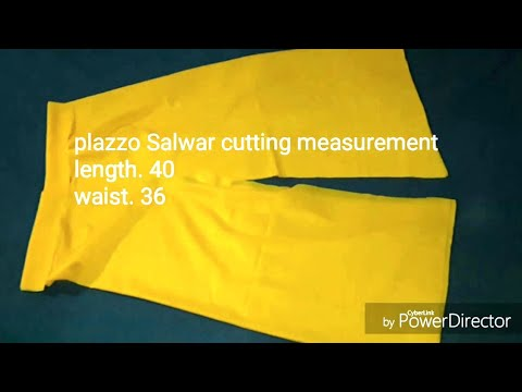 Easy palazzo salwar cutting video