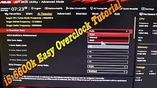 i5 6600K 4.6Ghz Easy OverClock Tutorial MoBo Asus Z170 ProGaming Corsair H100i