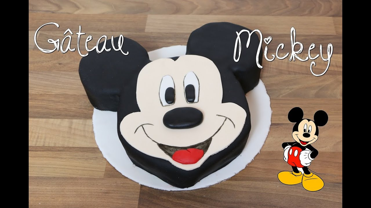 Recette gateau mickey disney mickey mouse cake cake design youtube - Gateau mickey facile ...