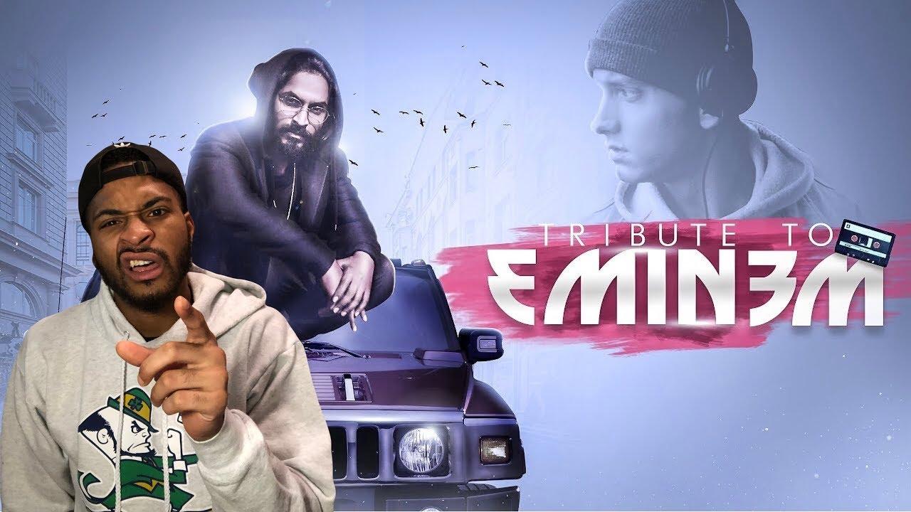 HINDI RAP! EMIWAY - TRIBUTE TO EMINEM   AMERICAN REACTS