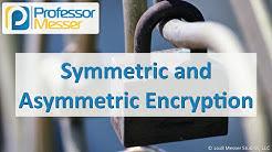 Symmetric and Asymmetric Encryption - CompTIA Security+ SY0-501 - 6.1