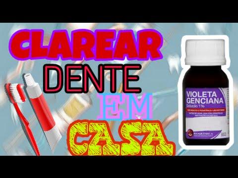 Como Clarear O Dente Em Casa Com Violeta Genciana Youtube