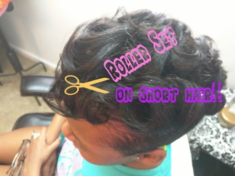 How To Rollerset On Short Relaxed Hair YouTube