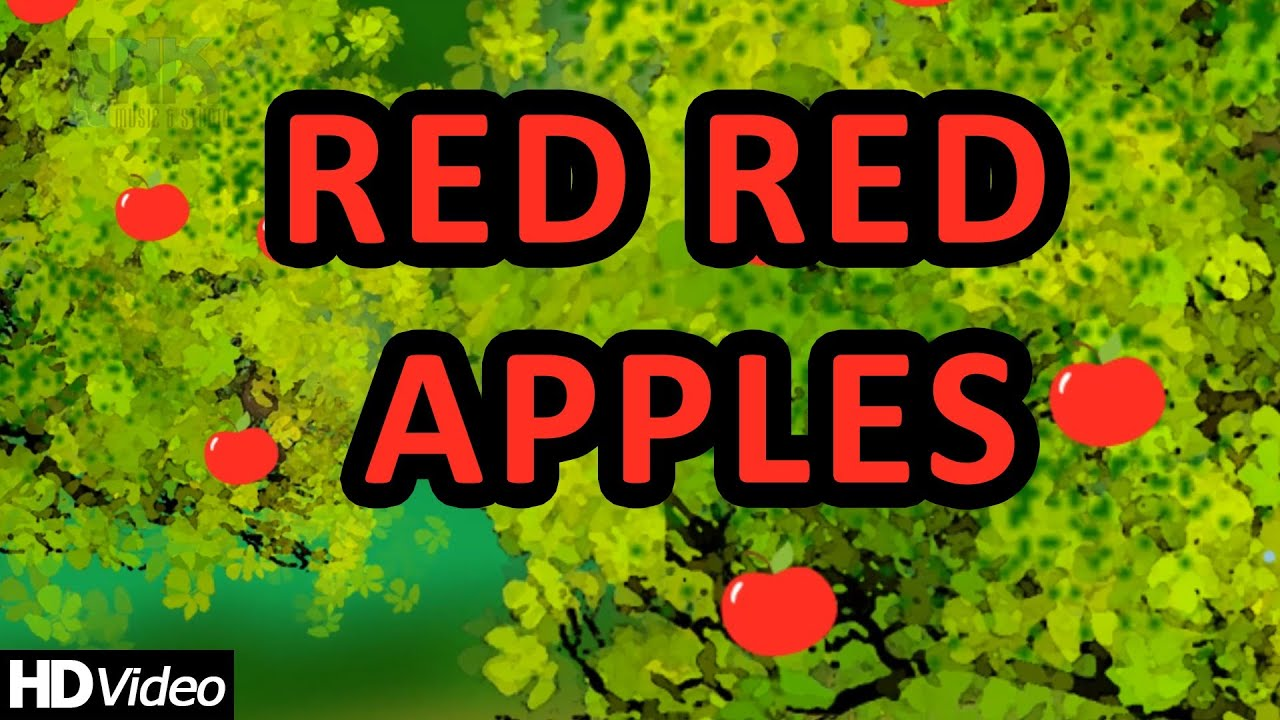 Red Red Apples - Nursery Rhymes | Learning English Preschool Rhymes ...