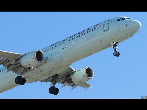 Air Canada Airbus A321-211 [C-FGKZ] landing in LAX