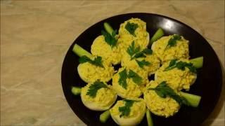 Мой любимый рецепт фаршированных яиц с грецким орехом