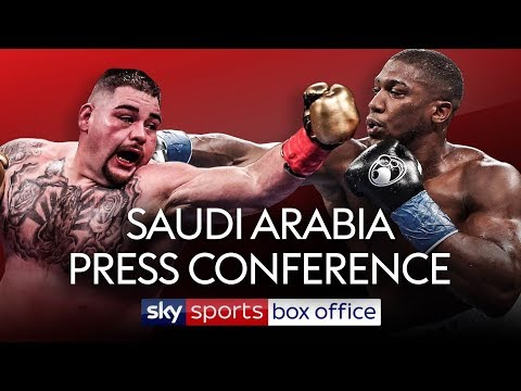 LIVE PRESS CONFERENCE! Andy Ruiz Jr vs Anthony Joshua 2 | In Saudi Arabia