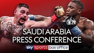 LIVE PRESS CONFERENCE! Andy Ruiz Jr vs Anthony Joshua 2 | In Saudi Arabia