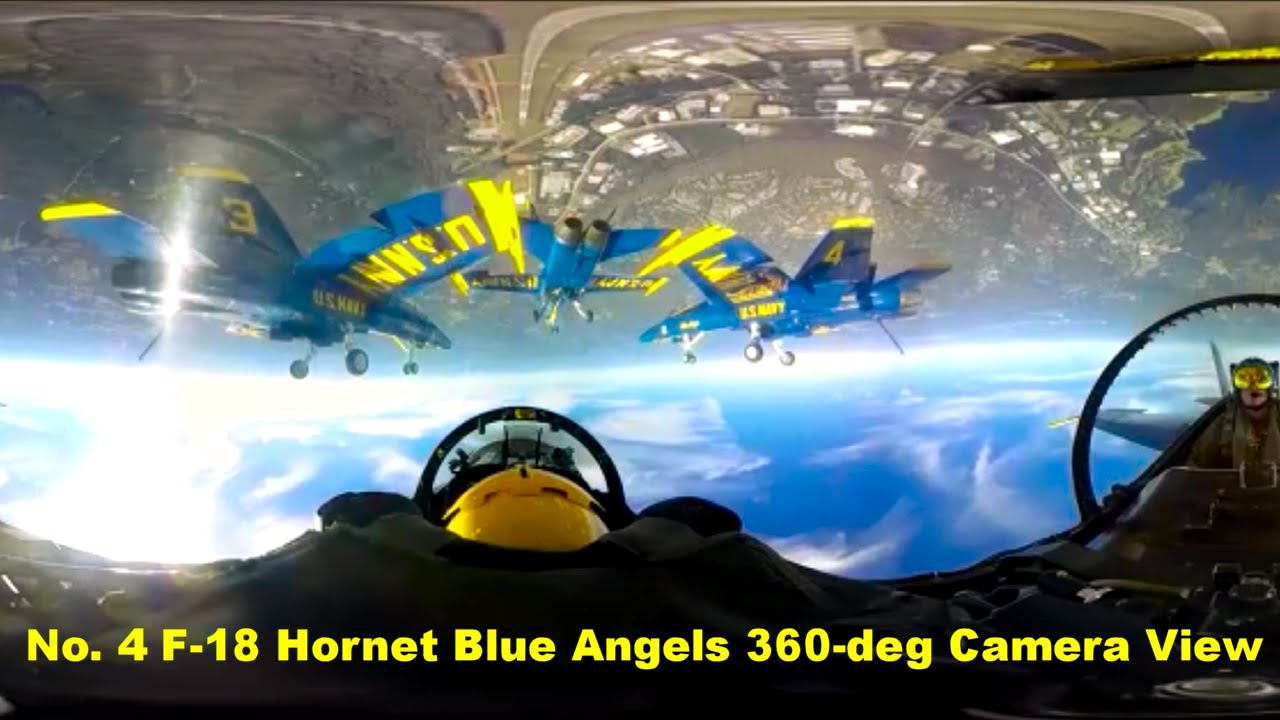 Number Four F-18 Hornet Blue Angel 360 degree Camera View