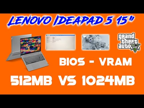 Ryzen 5 4500U - Lenovo Ideapad 5 - Bios VRAM Settings - 512MB vs 1024MB
