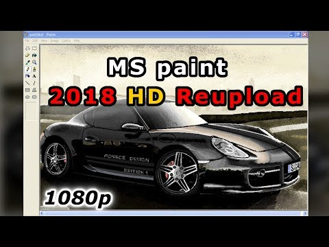 Porsche Cayman In MS paint 1080p HD Reuploaded (2018)