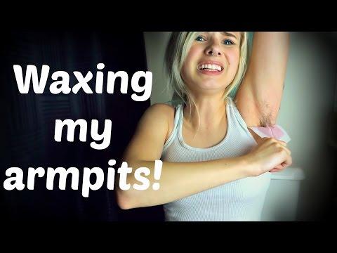 WAXING MY ARMPIT HAIR OFF!