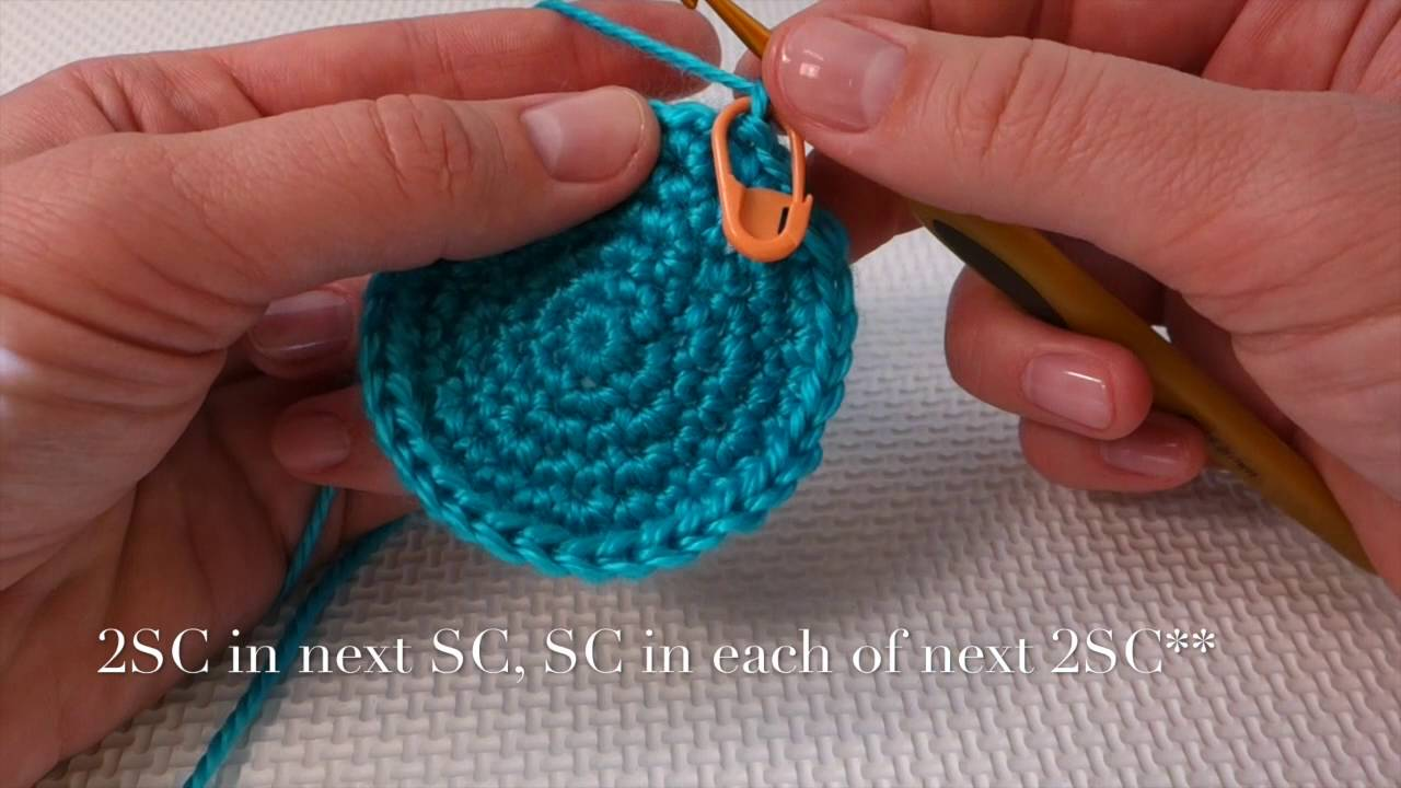 How To Single Crochet A Perfect Round Circle With Subtitles No Sound
