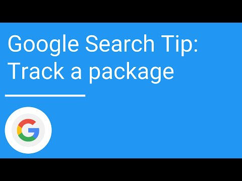 Google Search tip: Track a package