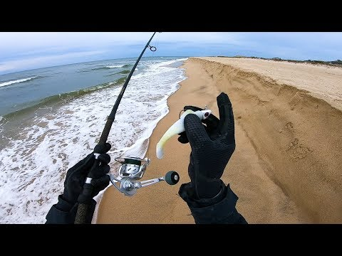 Fishing The Beach Troughs - Late Season Montauk Surf Fishing
