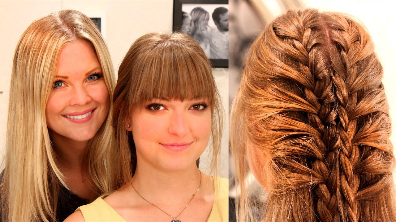 "5 Hairstyles: Double Braid ""Superhero Hair"""