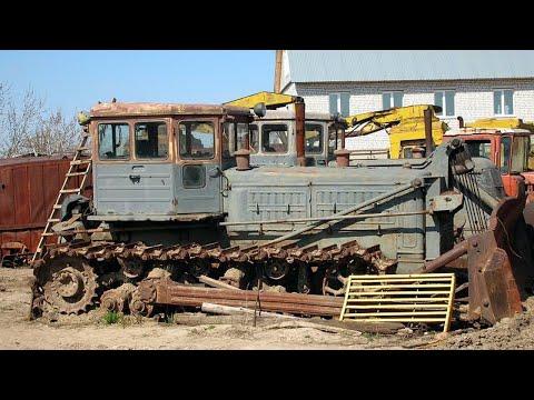 Он был и в селе и на стройках! Промышленный трактор СССР - БАЗ Т 140!