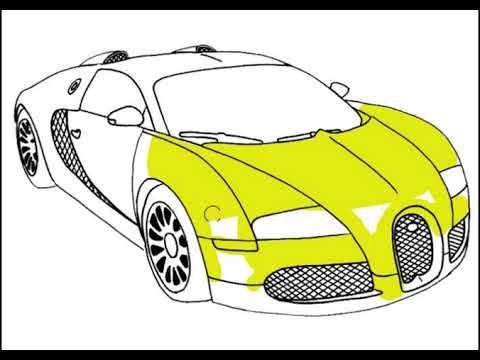 Cara Menggambar Dan Mewarnai Mobil Balap Ferrari How To Drawing And Coloring Ferrari Racing Car Youtube