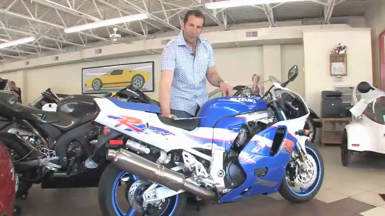 1994 Suzuki GSX-R 750 for sale with test drive, driving sounds, and walk  through video