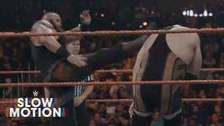 Monstrous slow-motion video of Big Show vs. Braun Strowman: Raw Exclusive, Feb. 20, 2017