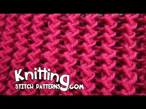 Knitting Fancy Rib Stitches : Zig Zag Rib Stitch - YouTube