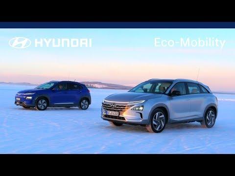 Hyundai Kona Electric & NEXO - Cold Weather Test