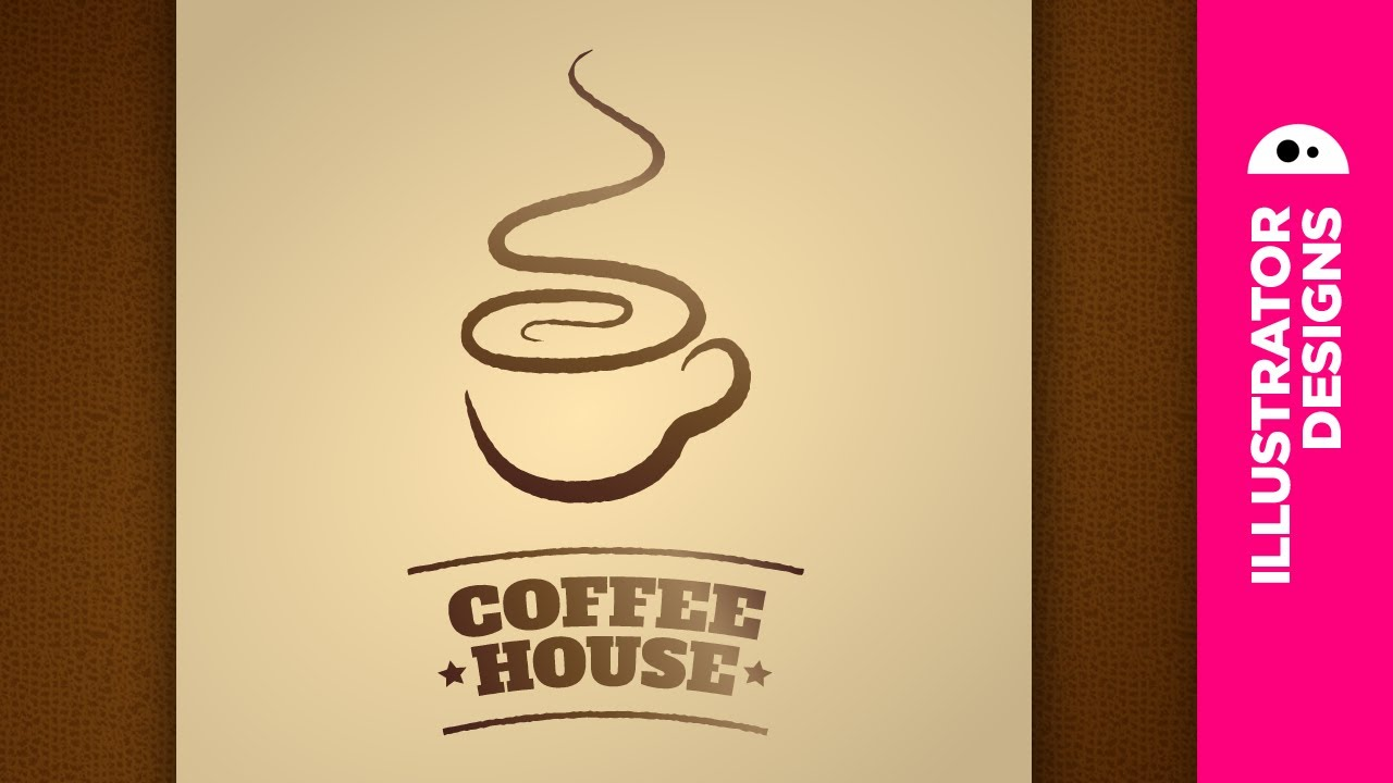 Adobe Illustrator // coffee logo - YouTube
