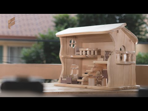 How to make a Wooden Dollhouse    DIY - Woodworking build