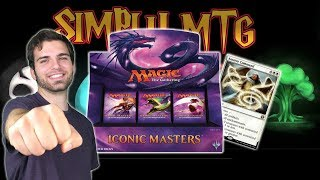 simply mtg iconic masters booster box opening review 1