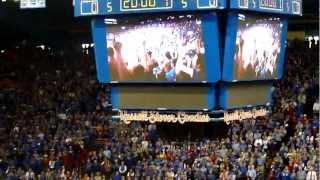 Decibel record broken at Allen Fieldhouse KU vs MU basketball  2/25/2012. New Pre-tip video! thumbnail