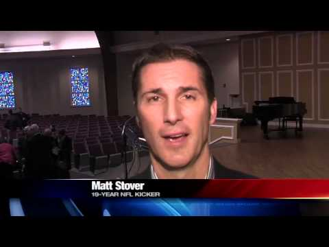 FORMER NFL KICKER MATT STOVER SPEAKS AT ETBU