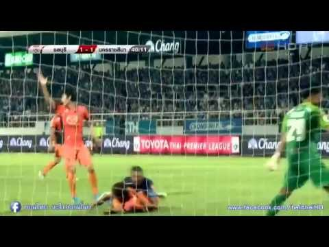 highlight thai premier league 2015  (1)  Chonburi  FC  2 VS Nakhonratchasima FC 2