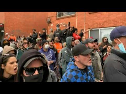 Australia: Protest in Melbourne against lockdowns   AFP