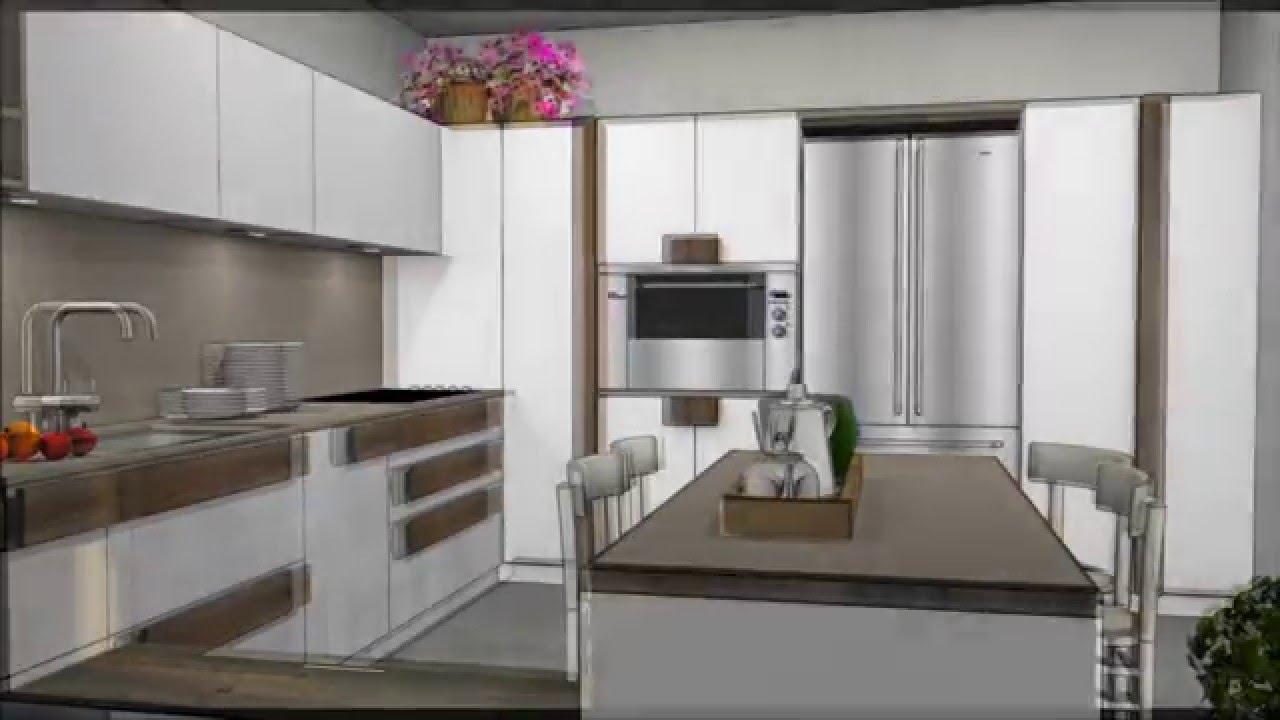 Cucina bianca e legno in patina - YouTube