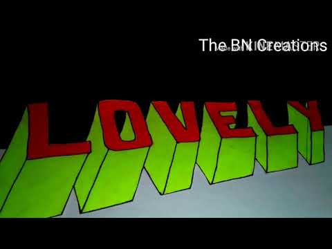 Easy to draw a 3D letters _ The BN Creations