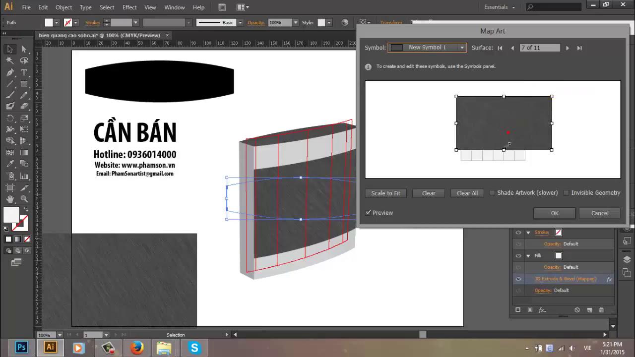 [ phamson.vn ] Bài 64 – Thiết kế phối cảnh biển quảng cáo Alu 3D