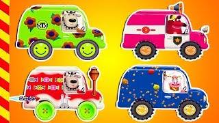 Машинки все серии подряд 15 МИН. Развивающие машинки строим для детей. Машинки автомастерская