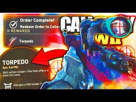 NEW FREE TORPEDO Gameplay Call of Duty WW2! Free KAR98K Variant  NEW SPECIAL ORDER!