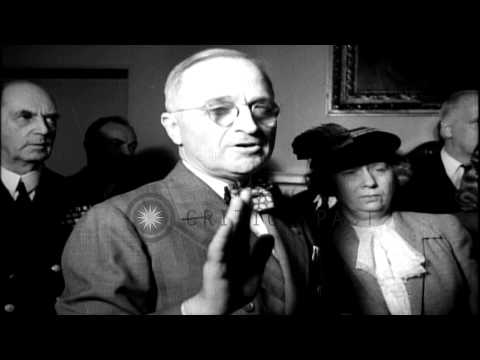 Harry S Truman takes Oath of Office. HD Stock Footage