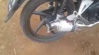 Suara knalpot helmi hendra oval di motor revo fi(injeksen)
